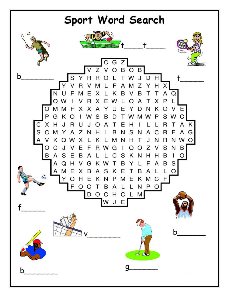picture regarding Sports Word Search Printable known as Term Glimpse Athletics Printable Free of charge COLORING Internet pages