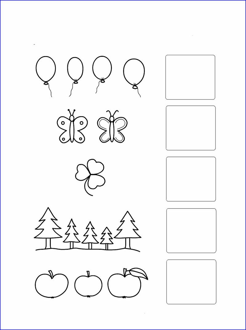Worksheet For Numbers For Kindergarten