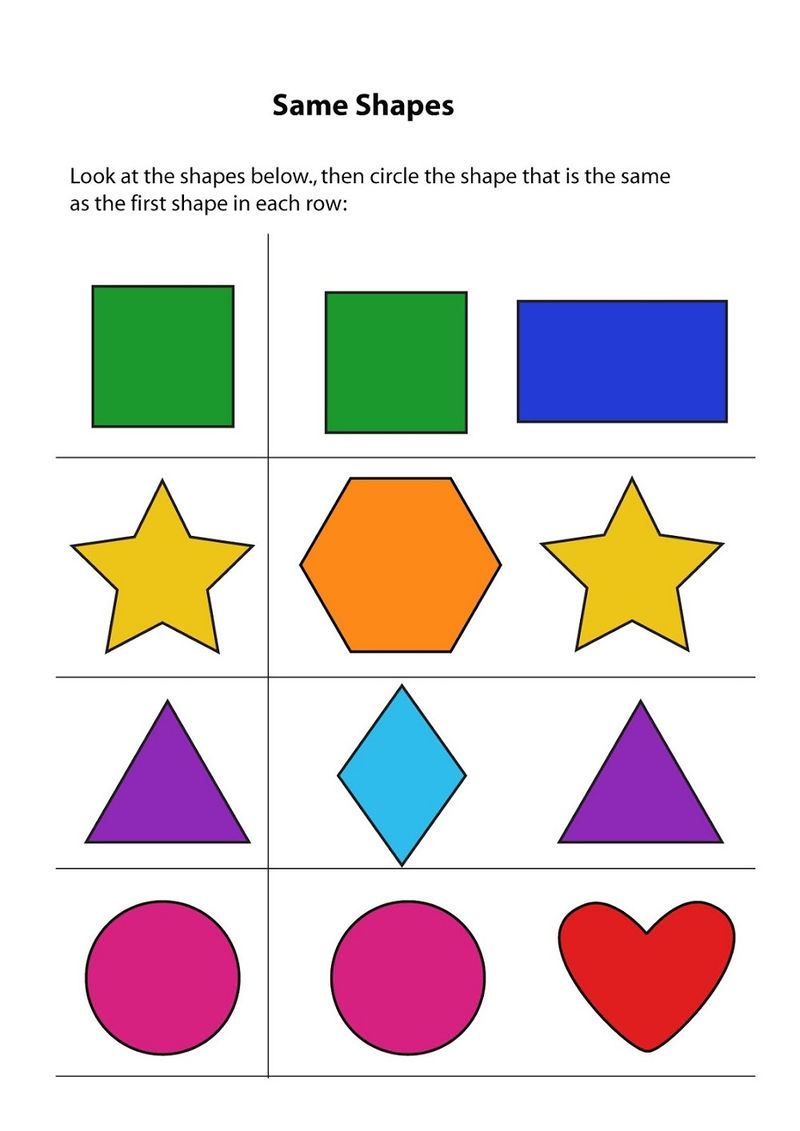 Worksheet Kindergarten The Same Or Differences Free