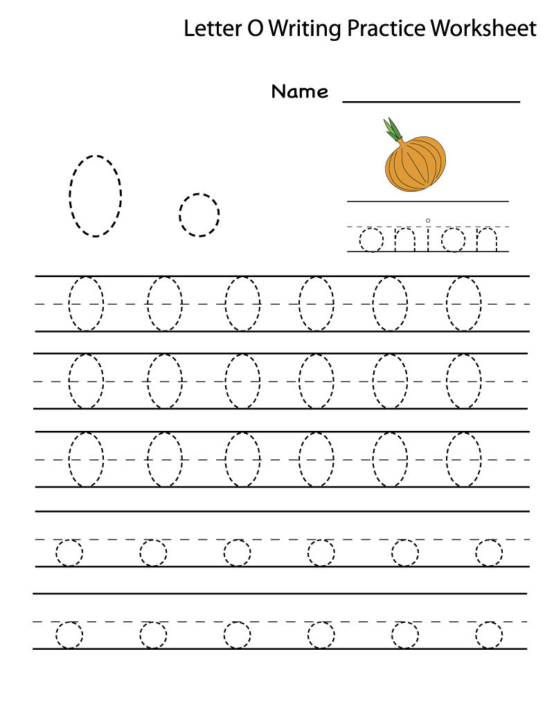 Worksheet Of The Letter O Tracing 001