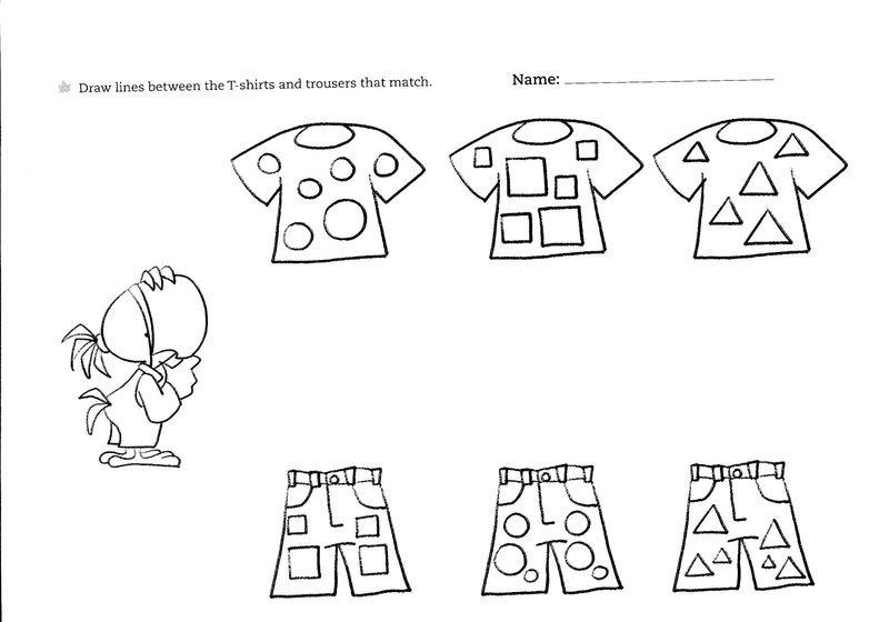 Worksheets For 2 Years Old Matcing