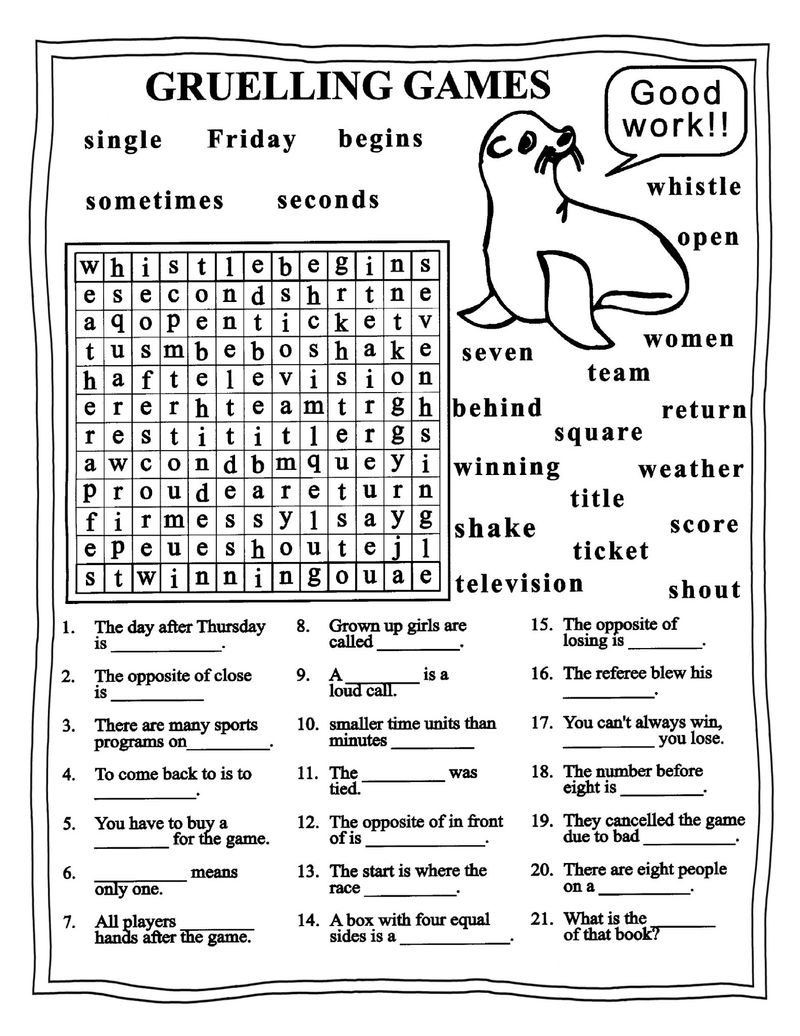 Worksheets For Grade 4 English
