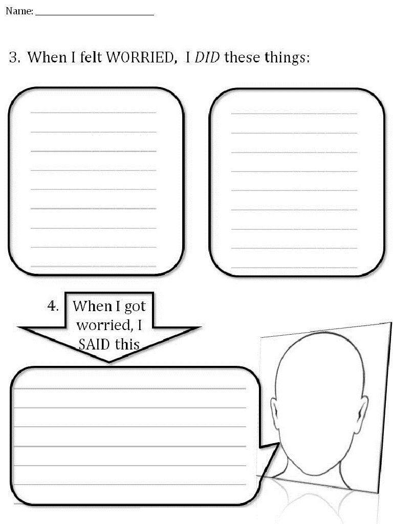 Worksheets For Worrying Autism Teaching 001