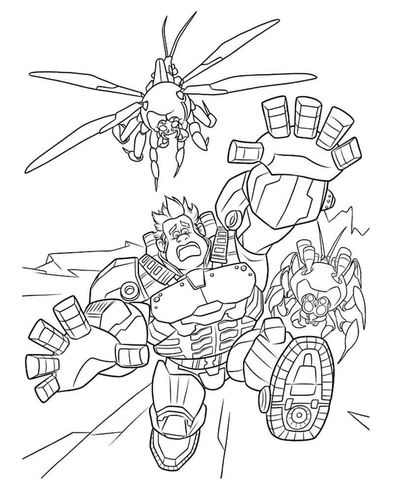 Wreck it Ralph Coloring Pages Free Printables