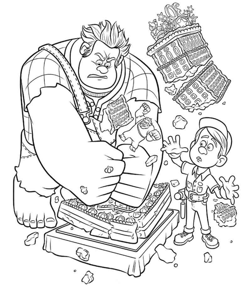 Wreck It Ralph Free Coloring Printables