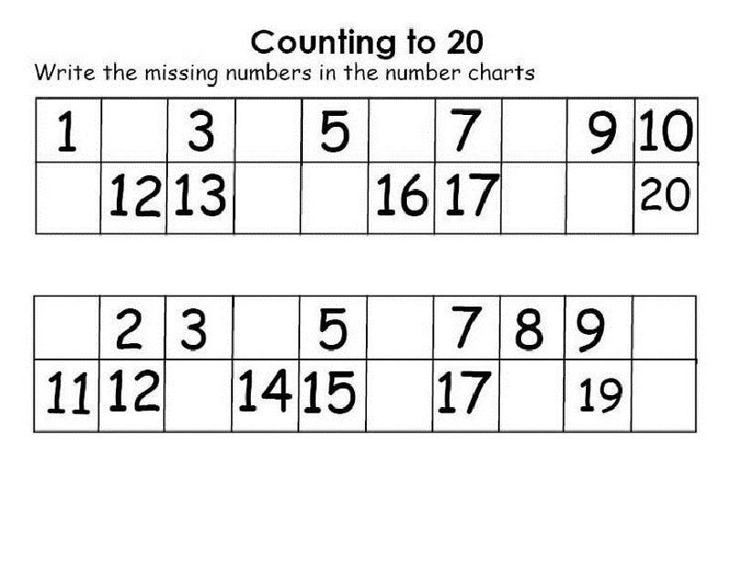 Write Numbers 1 20 Worksheet For Kids 001