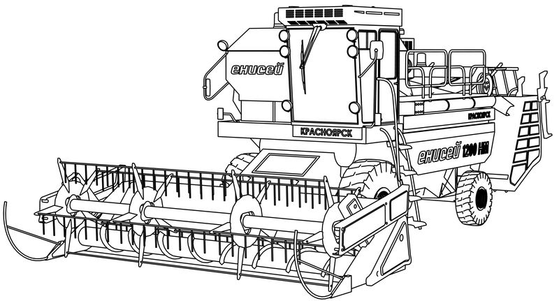 Yenisei 1200 Vehicle Coloring Page