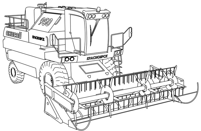 Yenisei 950 Work Vehicle Truck Coloring Page