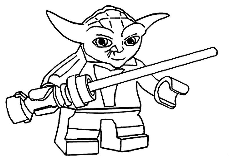 Yoda Lego Star Wars Coloring Pages 001
