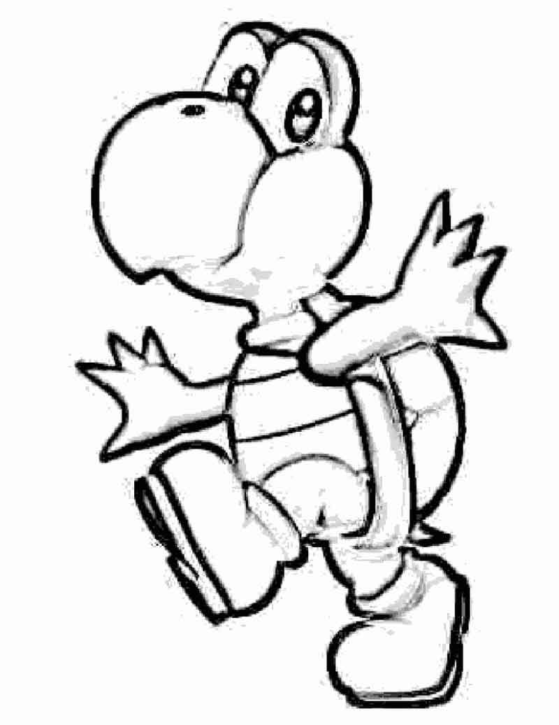 Yoshi Coloring Pages For Kids