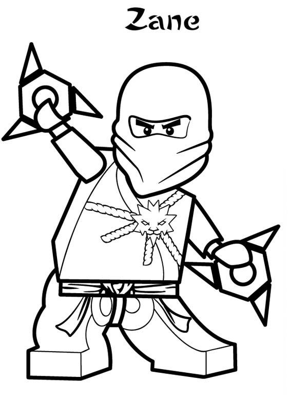 Zane ninjago coloring pages