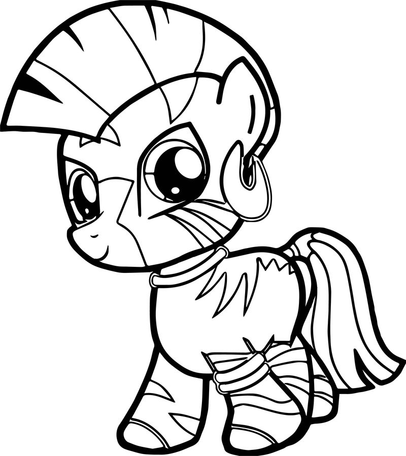 Zecora Filly Very Cute Baby Horse Coloring Page