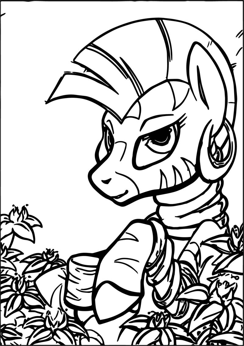 Zecora Flower Coloring Page