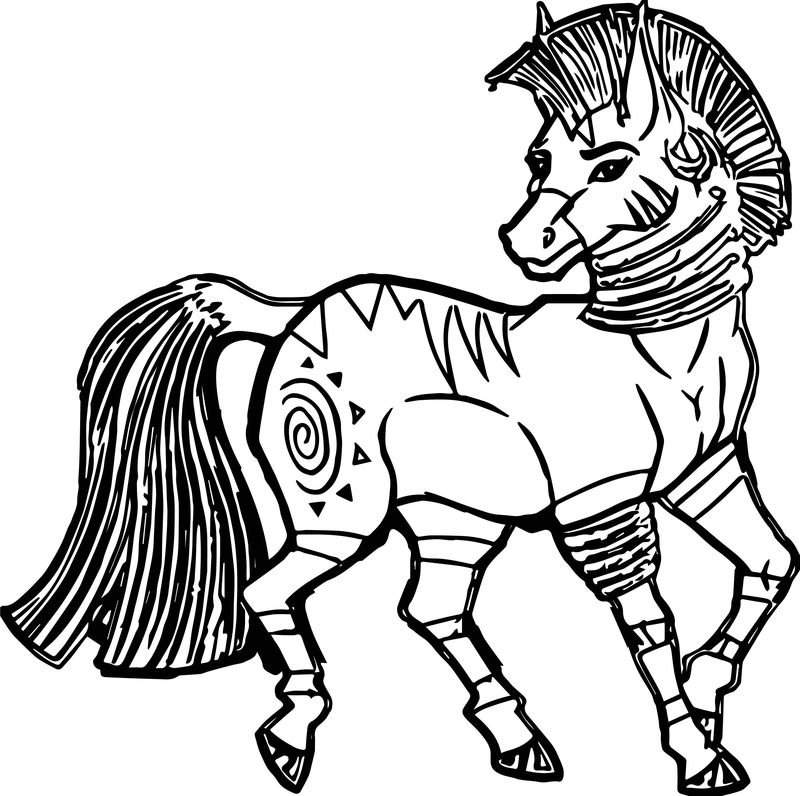 Zecora Horse Realistic Coloring Page