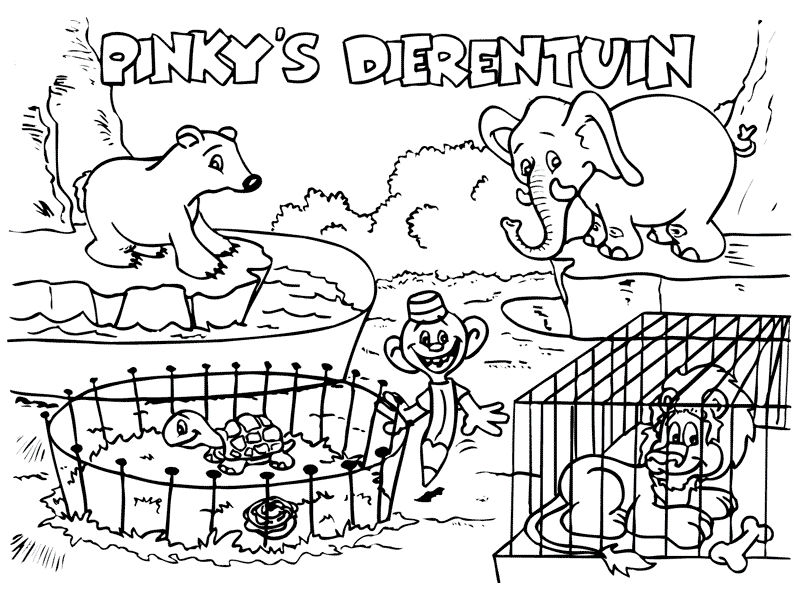 Zoo Animals Coloring Pages 1