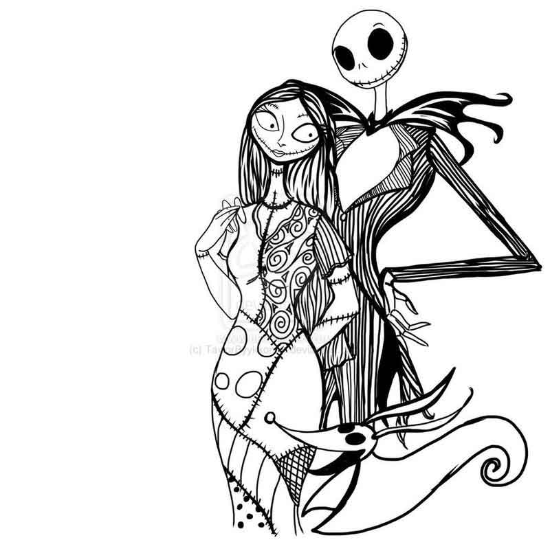 Free Nightmare Before Christmas Pages