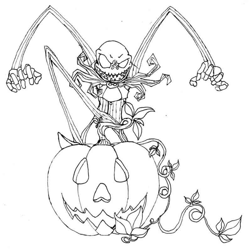 free Nightmare Before Christmas pictures for coloring