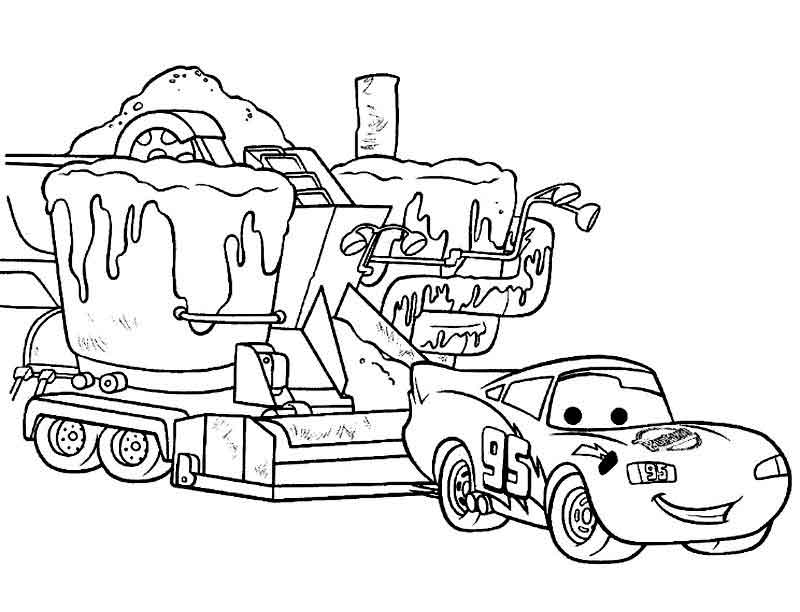Free Printable Lightning Mcqueen Coloring Page