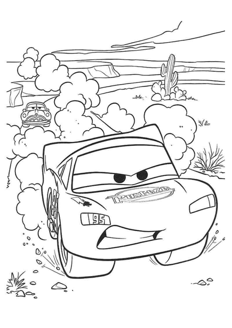 Lightning Mcqueen Coloring Page