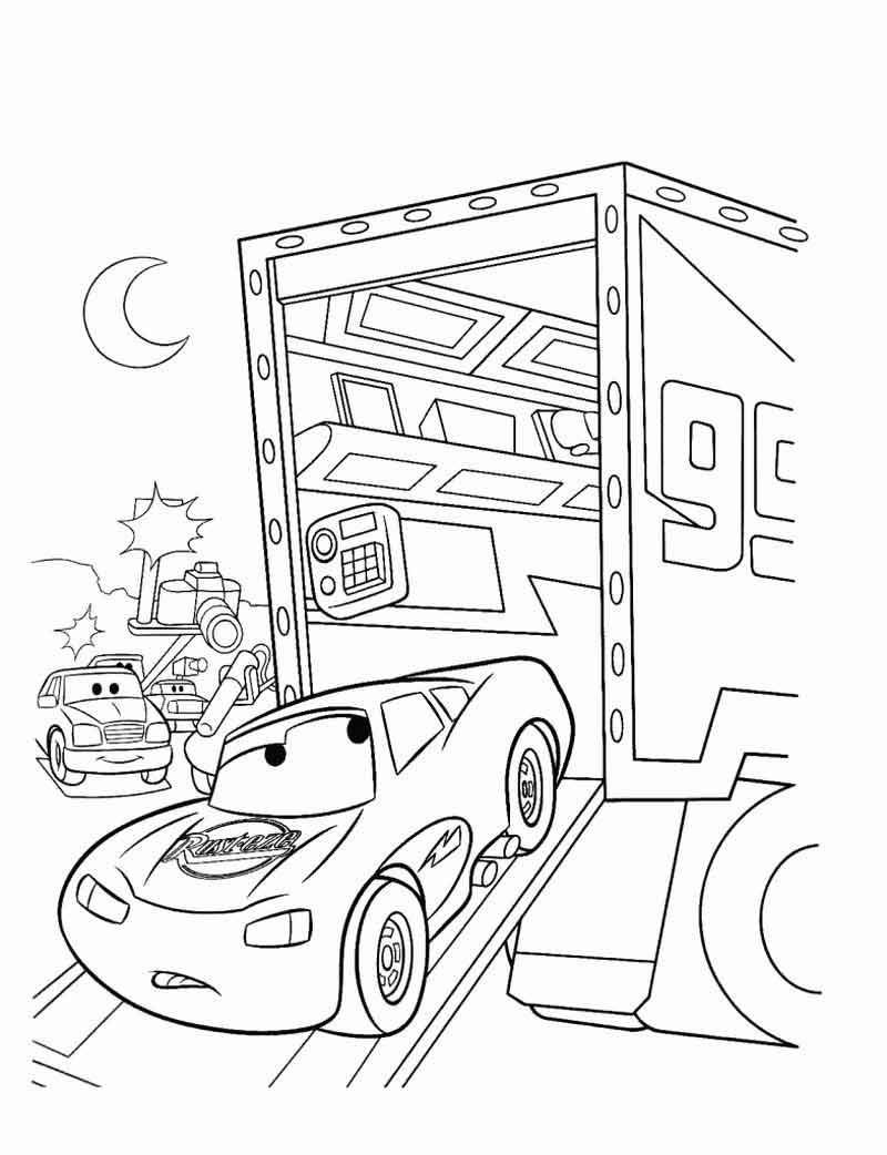 Lightning Mcqueen Coloring Page Free Printable