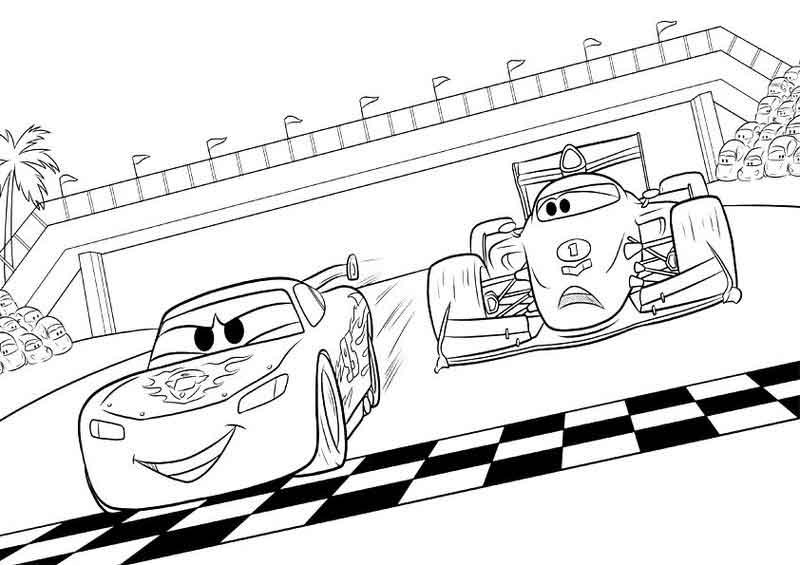 lightning mcqueen coloring pages to print and color